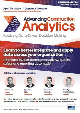 Advancing Construction Analytics 2019