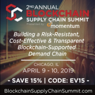 Blockchain Supply Chain Summit, Chicago, IL, April 9-10, 2019