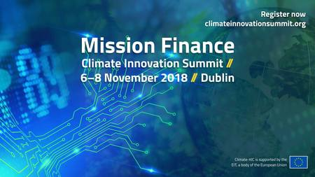 Climate Innovation Summit - Mission Finance, Dublin 2018