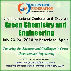2nd Int. Conf. & Expo on Green Chemistry and Engineering